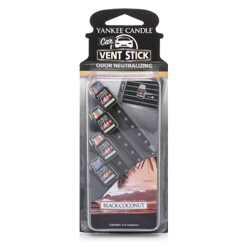 Car Air Freshener - Black Coconut Car Vent Stick