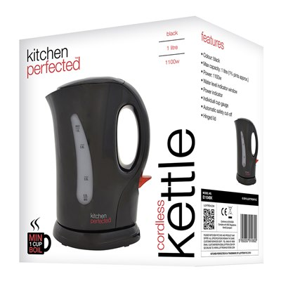Kitchen Perfected Cordless Kettle - Black