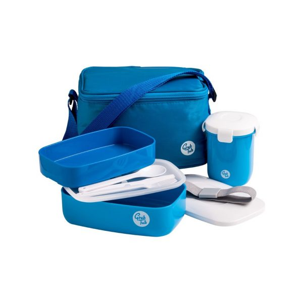 Lunch Box, 2 Containers / Cool Bag, Cutlery / Sealing Cup