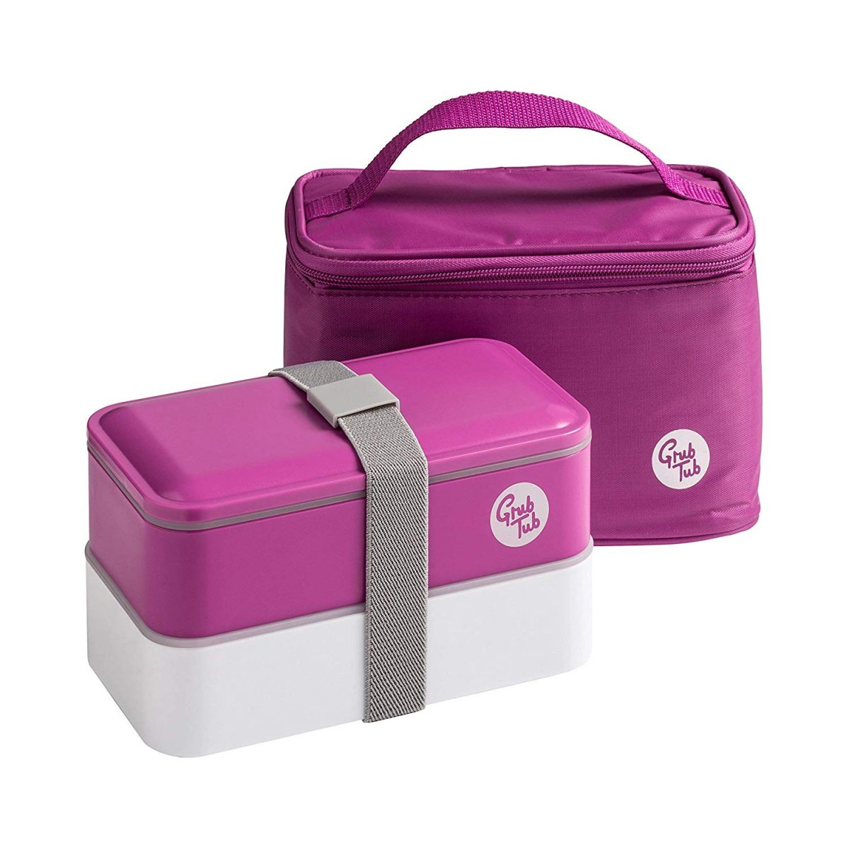 Grub Tub Lunch Box With 2 Containers/Cool Bag/Cutlery