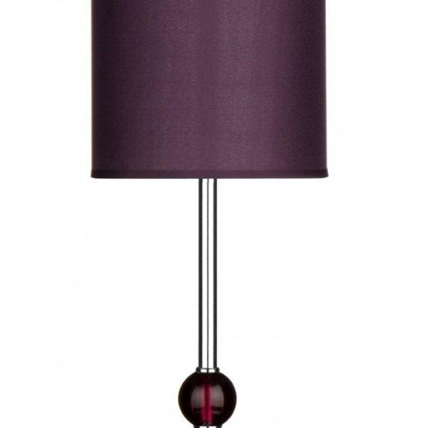 Leez Premier Housewares Chrome Stem Table Lamp With Acrylic Ball And Fabric Shade